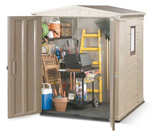 Keter Gemini 6 X 6 Apex Plastic Garden Shed With Double