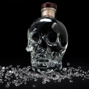 The pure vodka is filtered through herkimer diamonds