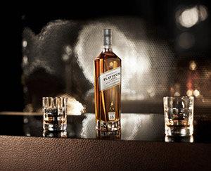 Johnnie Walker Platinum Label bottle and serve visual