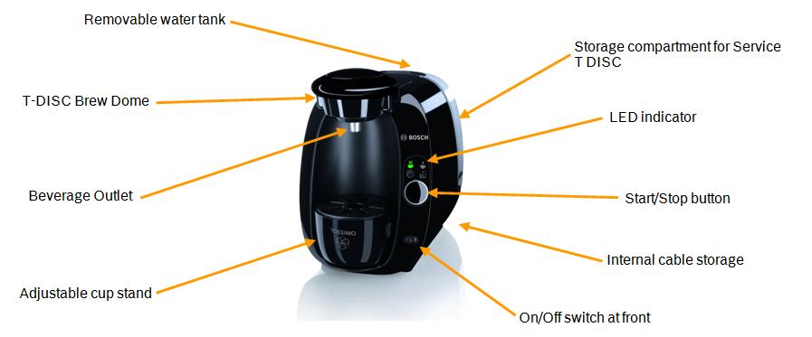 Tassimo Coffee Maker Does Red Light Mean : Bosch TAS2002GB Tassimo T20 Coffee,Tea Maker/ Machine, Gloss Black eBay
