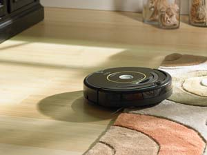 Roomba self-adjusts between floor types, providing optimized cleaning