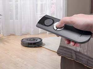 Control Roomba from across the room with the infared remote control