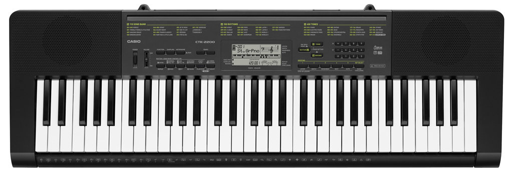 casio ctk 2200ad piano style full size electronic keyboard stand power supply ebay. Black Bedroom Furniture Sets. Home Design Ideas