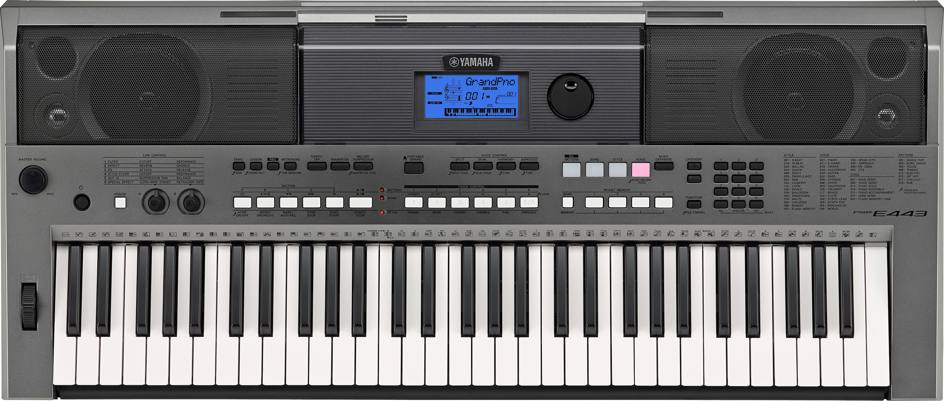 yamaha psr e443 digital keyboard musical