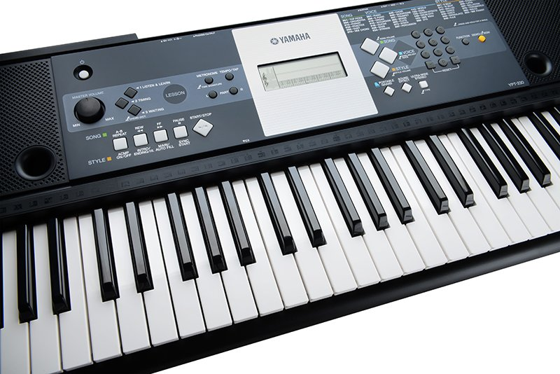 yamaha ypt 230 portable keyboard black