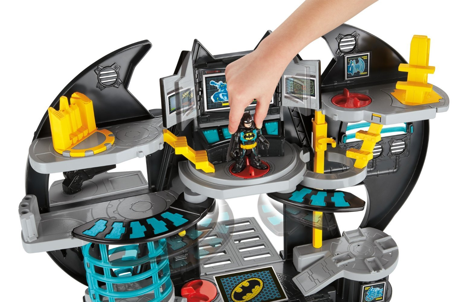 Batman Toys For Kids : Imaginext batcave batman cave with figures