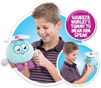 Squeeze Wurley's tummy to hear him speak