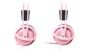 A retractable microphone that can be hidden in the left earcup