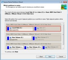 Express Resize Partitions Wizard
