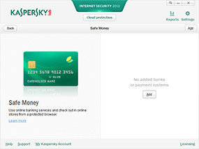 Kaspersky Internet Security 2013 Safe Money