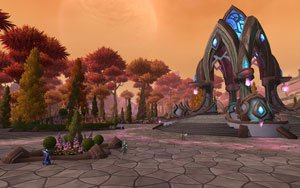 Talador, home zone of the Draenei in its original, pre-shattering glory