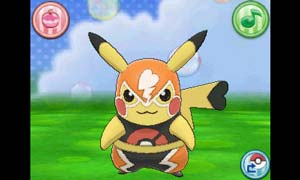Pikachu as a masked warrior in its Libre outfit
