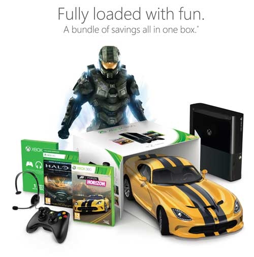 xbox 360 250gb console plus halo 4 game of the year edition and forza horizon. Black Bedroom Furniture Sets. Home Design Ideas