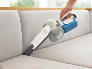 Hoover between sofa cushions with ease