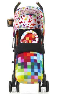 Supa stroller in Pixelate