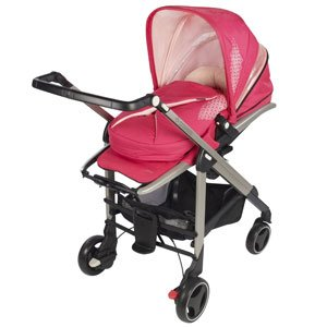 Suitable from birth to 3.5 years and comes with a colour-matching baby nest