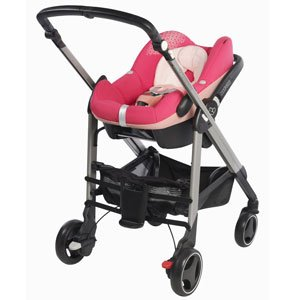 Form a pram with the Maxi-Cosi Foldable Carrycot (sold separately, adaptors included)
