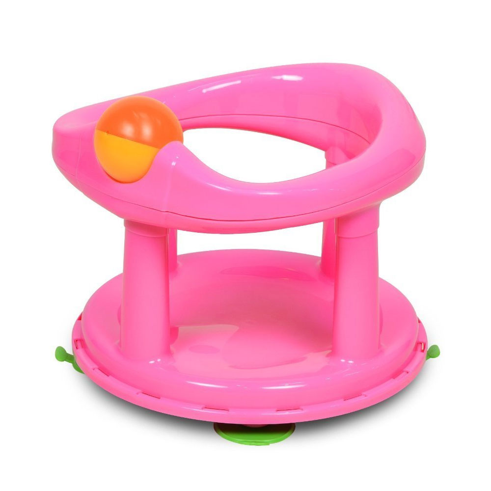 Baby Bath Seat Ring Safety Swivel Infant Chair Kid Shower Girl First Tub Gift
