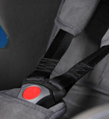 Three-point safety harness