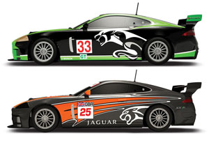 Jaguar XKR slot cars