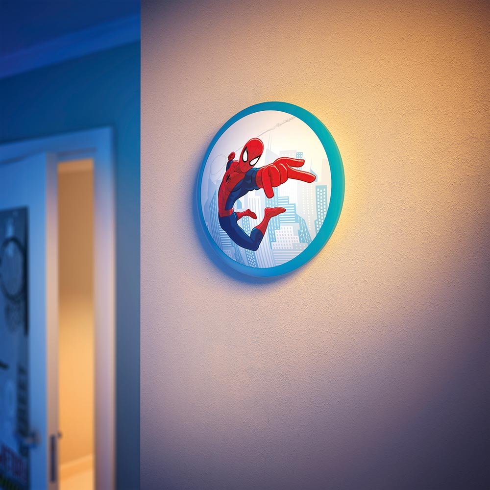 Marvel Lights On Wall : Philips Marvel Spider-Man Children s Wall and Ceiling Light - 1x4 W Integrated LED: Amazon.co ...