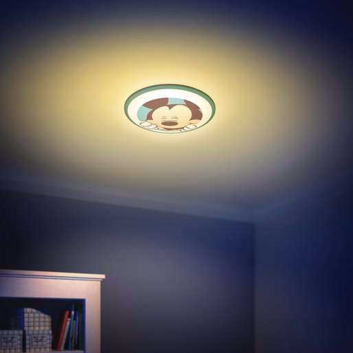 Philips disney mickey mouse childrens wall and ceiling light blue install this fixture as a wall light or ceiling light just the way you like it aloadofball Image collections