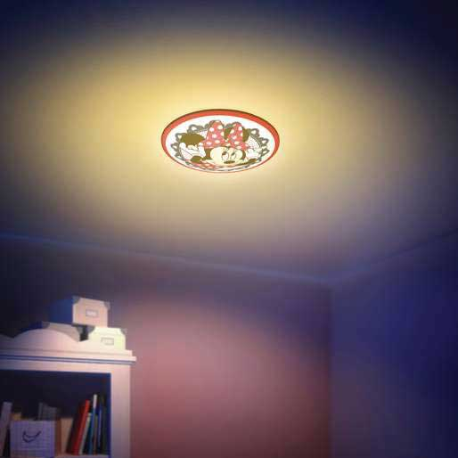 Philips disney minnie mouse childrens wall and ceiling light red install this fixture as a wall light or ceiling light just the way you like it aloadofball Image collections