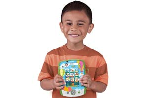 Child holding the LeapPad2 Custom