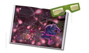 Experience the thrill of 3D with Mike and Sulley