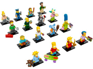 All 16 The Simpsons minifigures