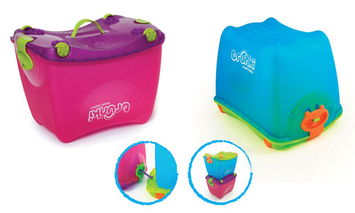 Make tidying up fun with the 4-in-1 ride-on Trunki ToyBox