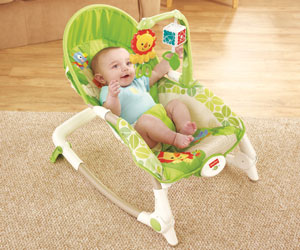 Baby using the rocker