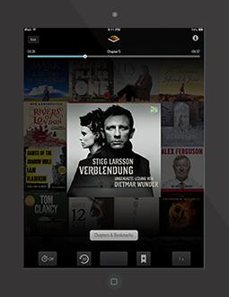 iPad Audible App Hörbuch Verblendung (Millennium-Trilogie 1)