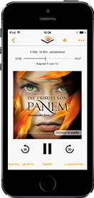 iPhone Audible App Hörbuch Flammender Zorn (Die Tribute von Panem 3) | Suzanne Collins