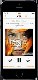 iPhone Audible App Hörbuch Flammender Zorn (Die Tribute von Panem 3)   Suzanne Collins