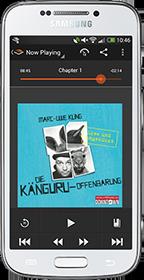Android Audible App Hörbuch Kanguru-Offenbarung