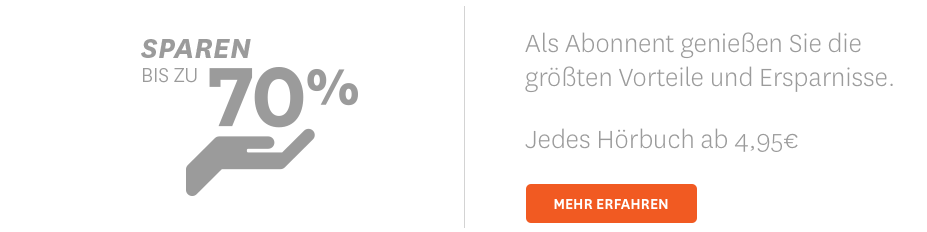 Jedes Hörbuch ab 4,95 Euro
