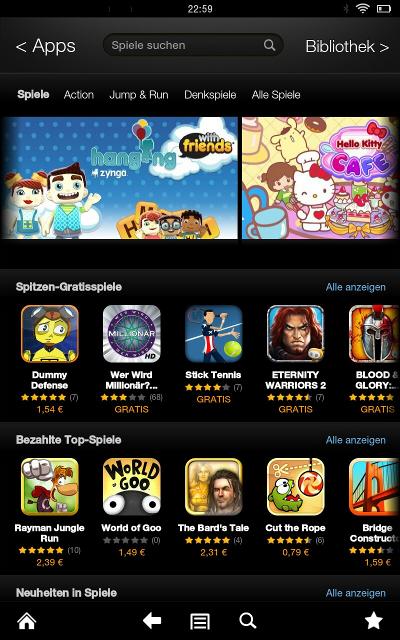 Kindle Spiele