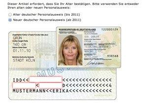 ausweisnummer alter personalausweis