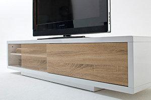 tv lowboard mit schiebet ren wei pictures to pin on pinterest. Black Bedroom Furniture Sets. Home Design Ideas