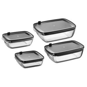 Gläser Aufbewahrungsboxen wmf 0660246630 frischhalte und aufbewahrungsboxen set 4 teilig