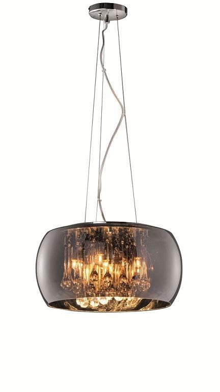 190140 Ceiling Light Chrome and Glass / Height 150 cm Diameter 40 cm ...