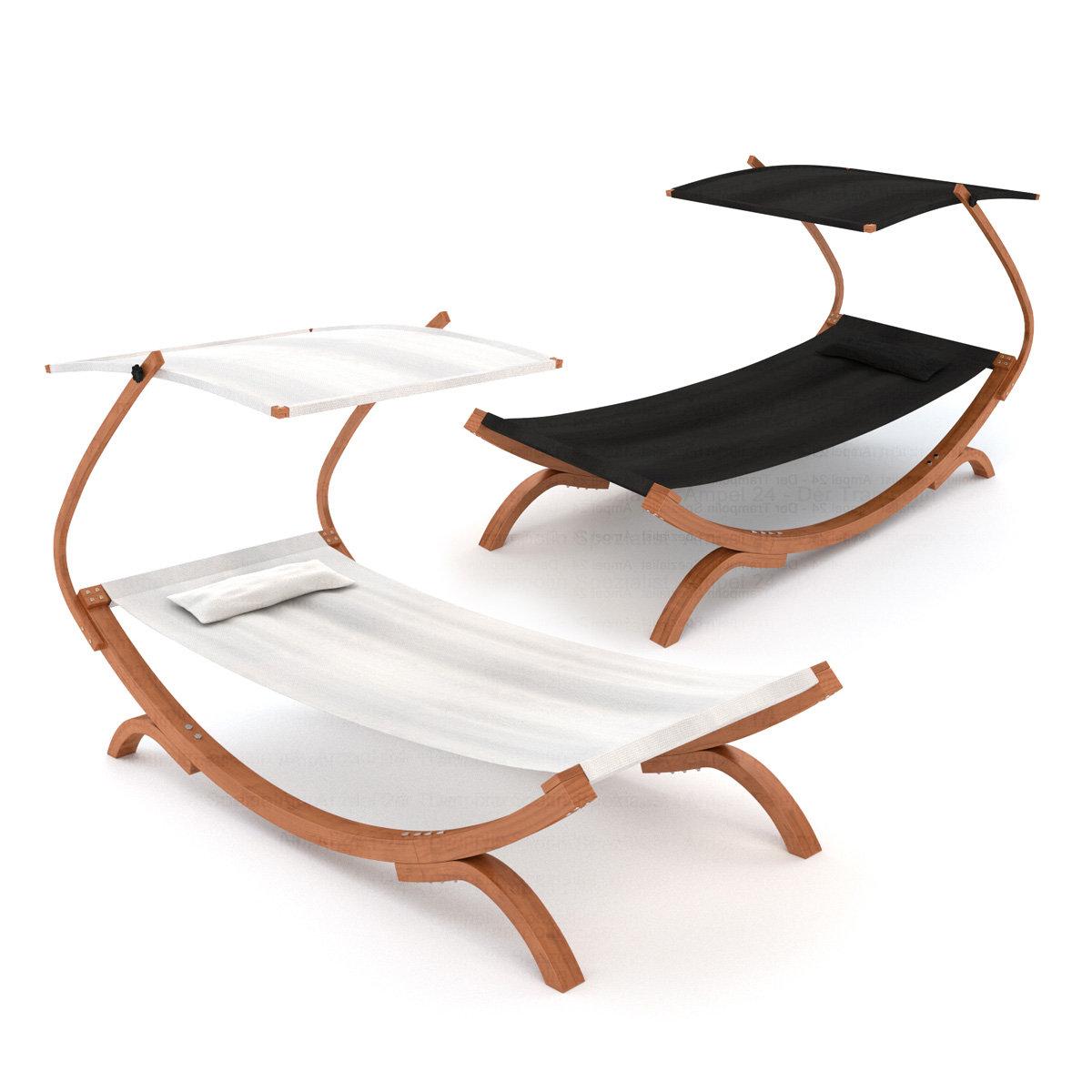 gartenliege panama mit sonnendach schwarz oder wei. Black Bedroom Furniture Sets. Home Design Ideas