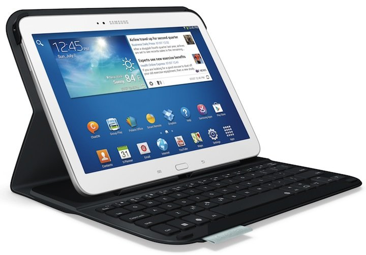 logitech ultrathin keyboard folio f r samsung amazon de