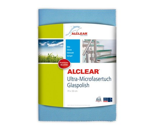 ALCLEAR 820051UM Ultra-Microfasertuch Glaspolish 70 x 50 cm, blau - Weitere Features