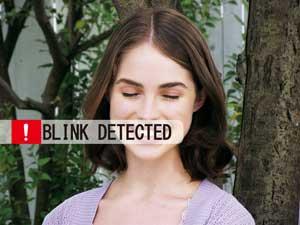 Blinzelerkennung - Augen geschlossen