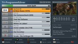 TV-Progarmmführer - Jetzt läuft Ansicht