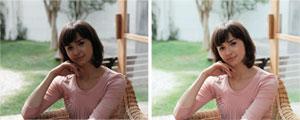 Bildfehler werden erkannt und korrigiert, indem Helligkeit und Farben angepasst werden