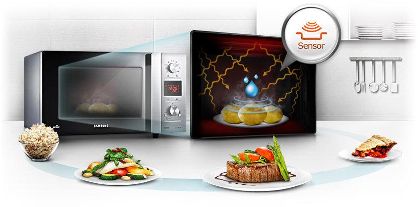 samsung ce117pf x xeg mikrowelle 900 watt 32 l garraum elektro gro ger te. Black Bedroom Furniture Sets. Home Design Ideas