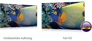 Perfekte Bildauflösung dank Full HD 1080p und 16:9-Format